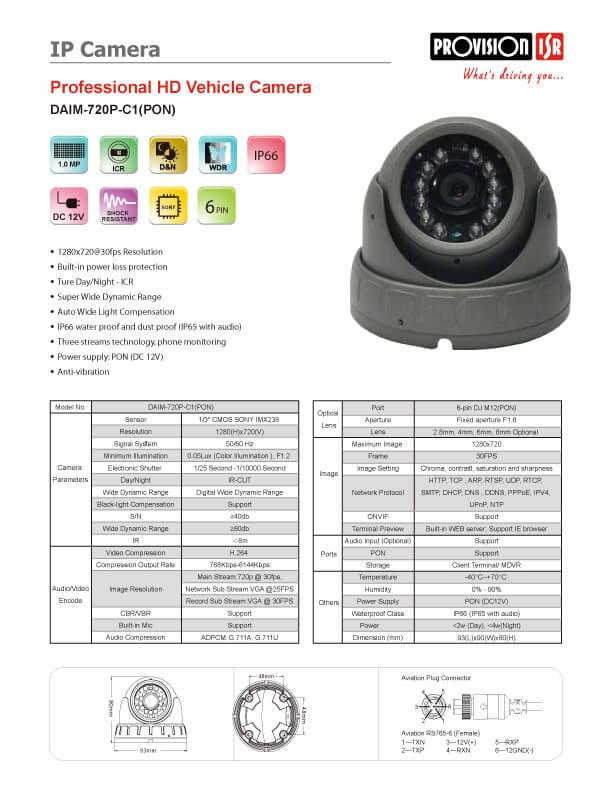 DAIM-720P-C1(PON)-SPECמפרט