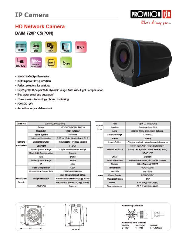 DAIM-720P-C5 SPEC V2